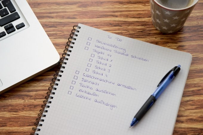Tipps für besseres Zeitmanagement, Tagesplan erstellen