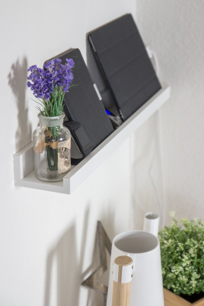 DIY Ladestation aus Bilderleiste Ribba