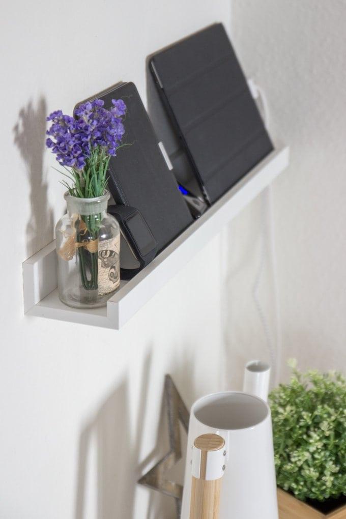 DIY Ladestation aus Bilderleiste Ribba