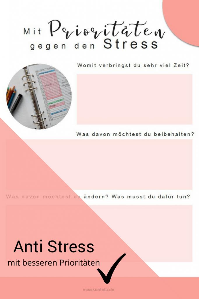 Prioritaeten gegen Stress