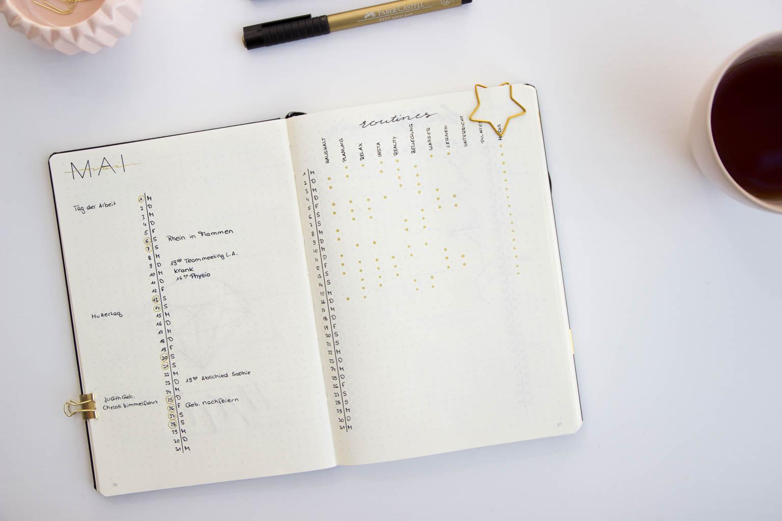 Zeitplanung im Bullet Journal