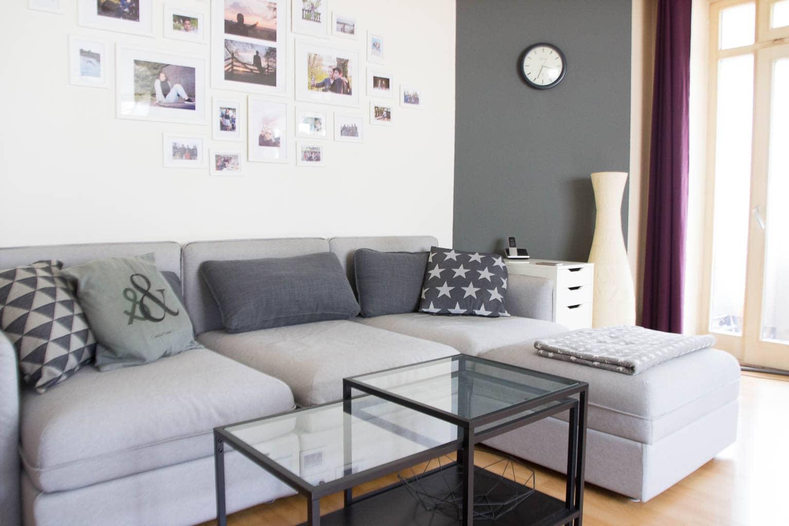 Wohnzimmer organisieren