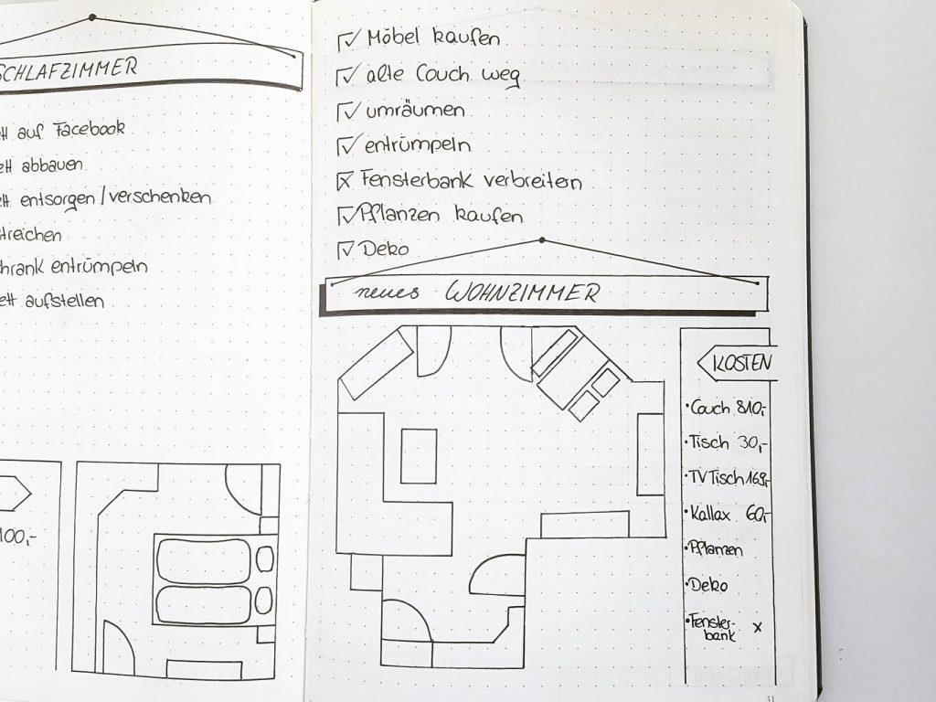 Bullet Journal Planung