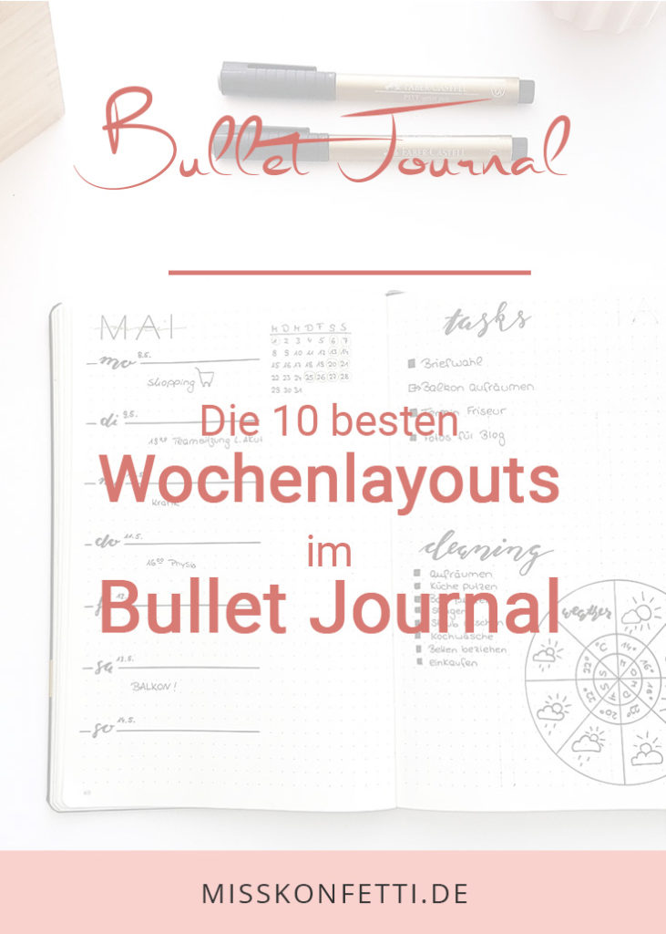 Bullet Journal Wochenplan
