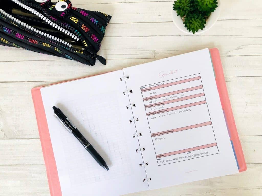 Filofax Notizbuch mit eigenen Vorlagen füllen