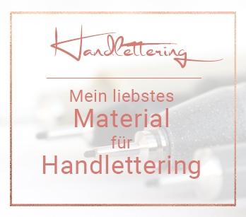 Handlettering Material – enthält Werbung
