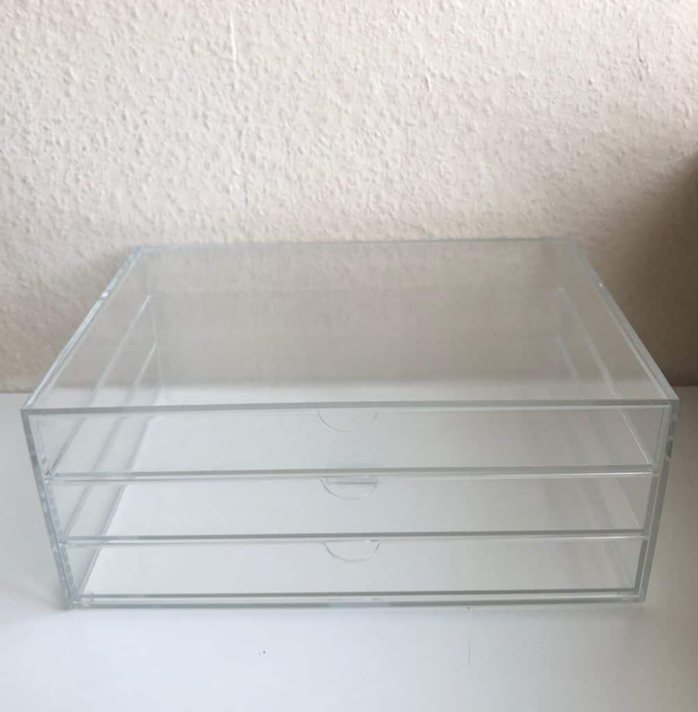 Schubladenbox aus Acryl - tolle Stifteaufbewahrung
