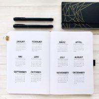 Jahreskalender im Bullet Journal