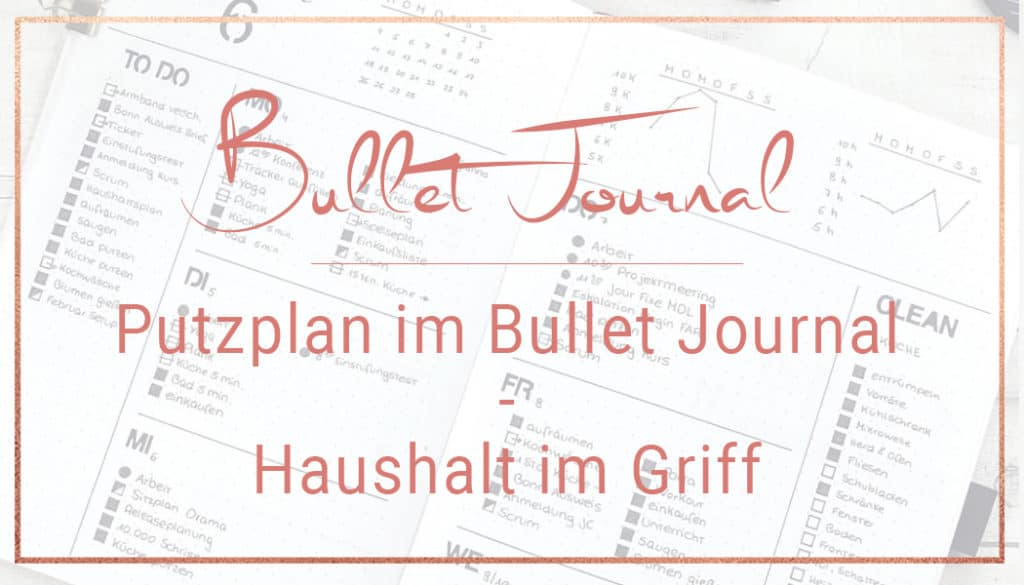 Bullet Journal Putzplan