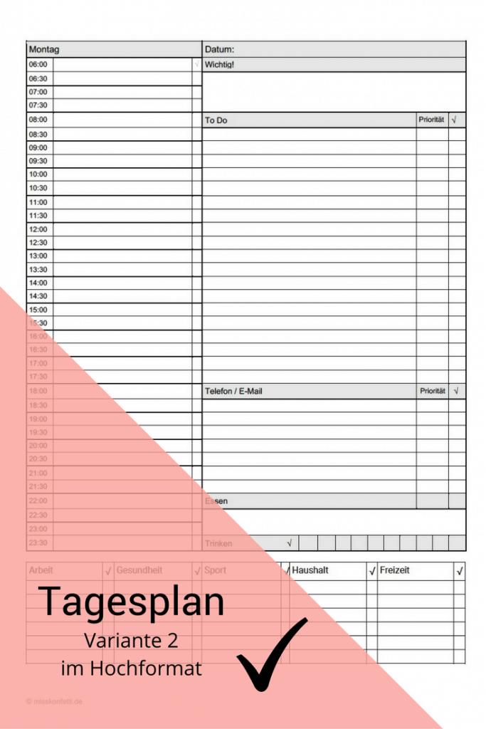 Tagesplan Download