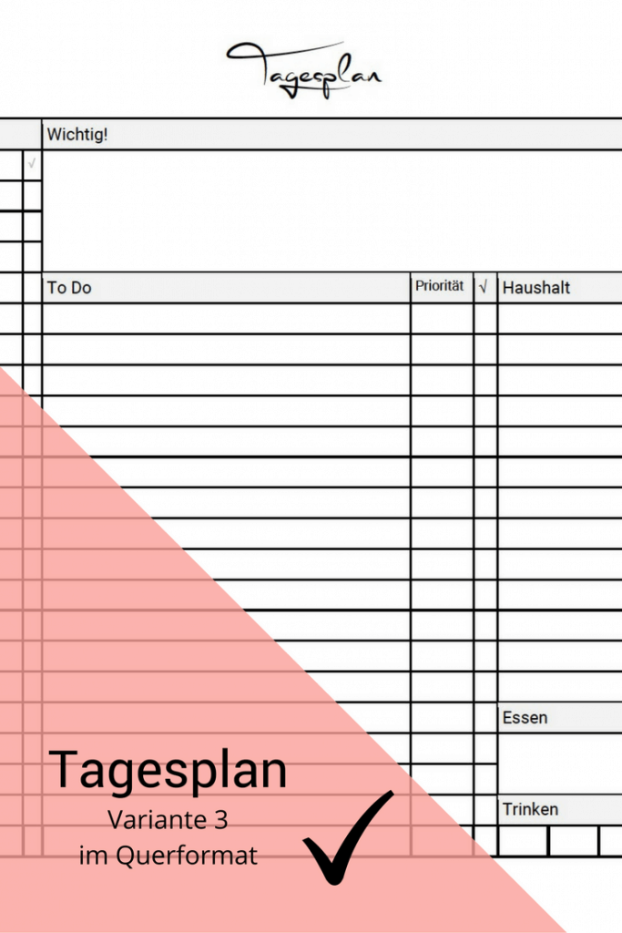 Tagesplan Download