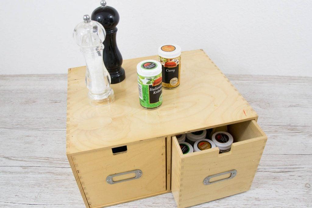 Ordnungstipp kleine Küche Schubladenkommode