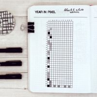 Year in Pixeln im Bullet Journal